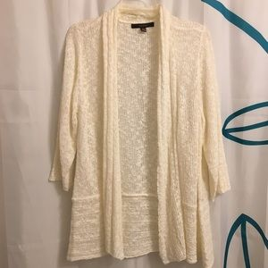Cream Open Knit Cardigan